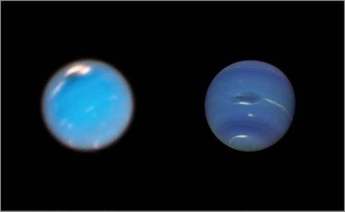 Scientists discover birth of giant storm on Neptune