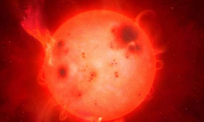 This small, cool star has super-flare 10 times more powerful than that on Sun