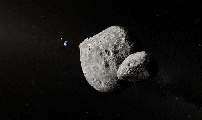 Very Large Telescope detected a passing double asteroid hurtling by Earth at 70 000 kmh